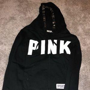 *worn once* pink zip up hoodie